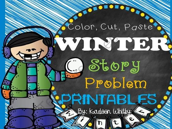 Winter Story Problems K-1 from Kadeen Whitby Shop on TeachersNotebook.com (23 pages)  - Thanks for purchasing this Winter story problem set.  It includes addition and subtraction within 20. Some problems require students to be able to count by 2's. Assist as needed.  Legal Stuff: Please do not post on any of your school websites for free or
