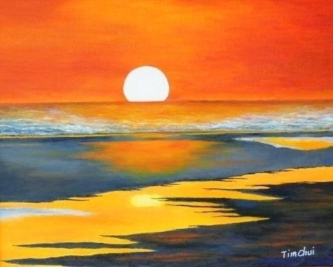 Watercolor Sunset Ocean Google Search Watercolor Ocean