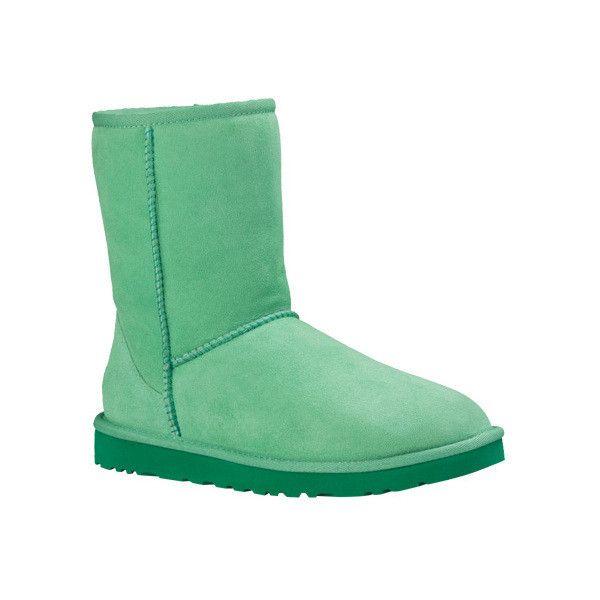 ugg classic short boots green