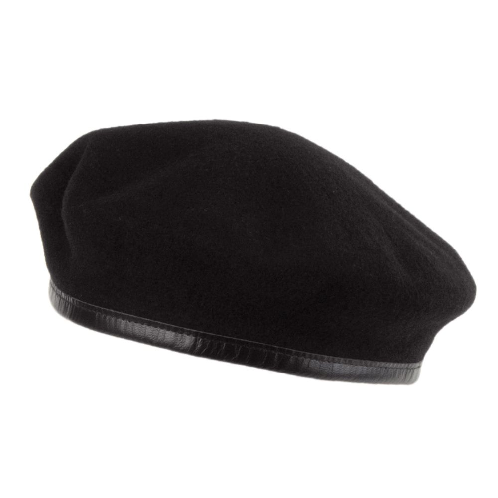 447c1fda7e096 Laulhère Hats Merino Wool French Military Beret - Black from Village Hats.