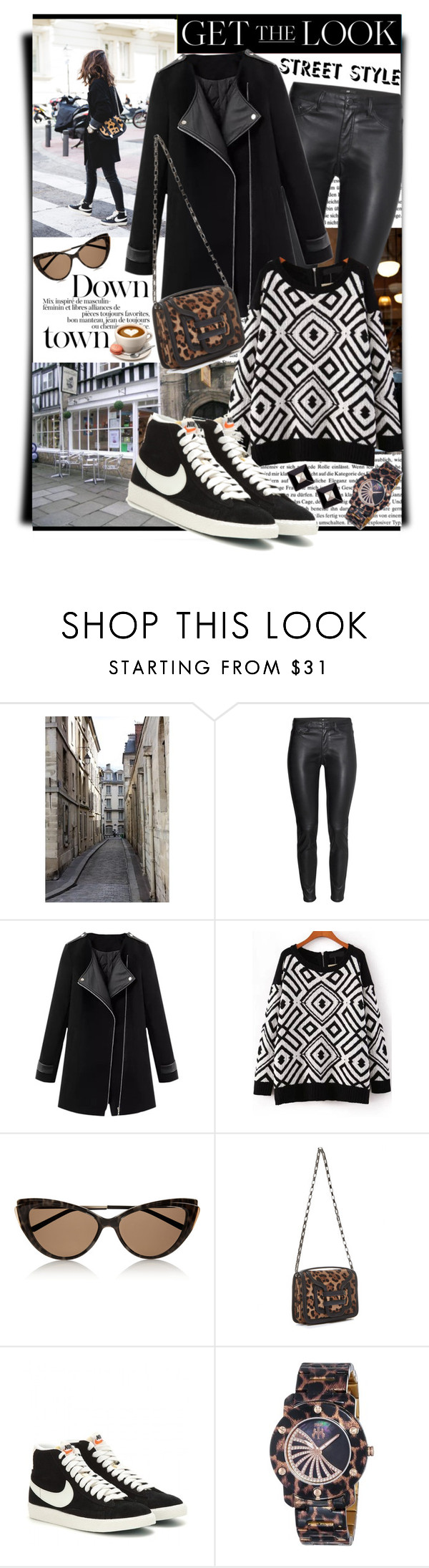 """""""Cute City Chic"""" by shortyluv718 ❤ liked on Polyvore featuring H&M, Yves Saint Laurent, Pierre Hardy, NIKE, Jivago and Givenchy"""