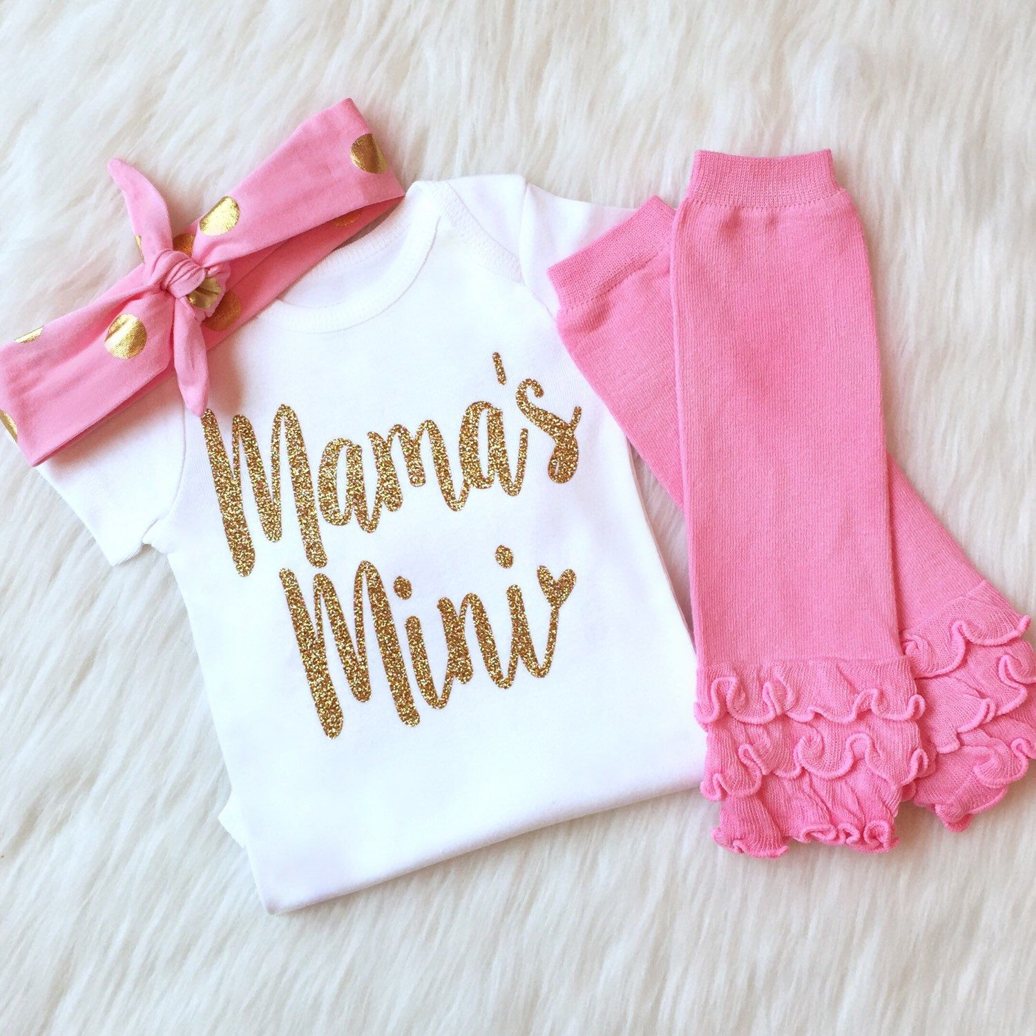 Photo of Mothers Day Gift Baby Girl Clothes Mommy and Me Mommys Girl Mommys Bestie Pregnancy Announcement Its a Girl Gender Reveal Newborn Girl Gift