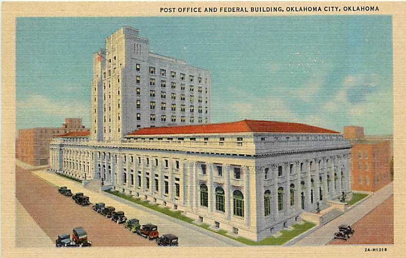 Ok Oklahoma City Post Office Federal Building Q30301 City Postcard Post Office Building