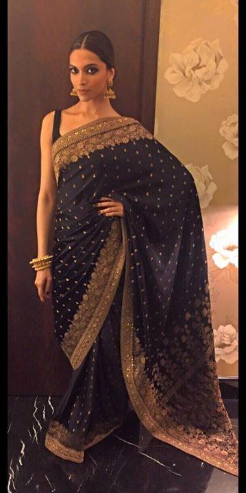 Deepika Padukone in Sabysachi | Bollywood fashion, Black ...