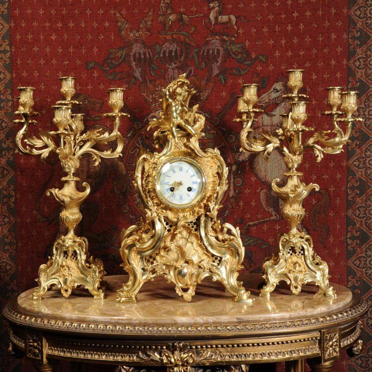 Stunning original antique French clocks from Dragon-Antiques.com