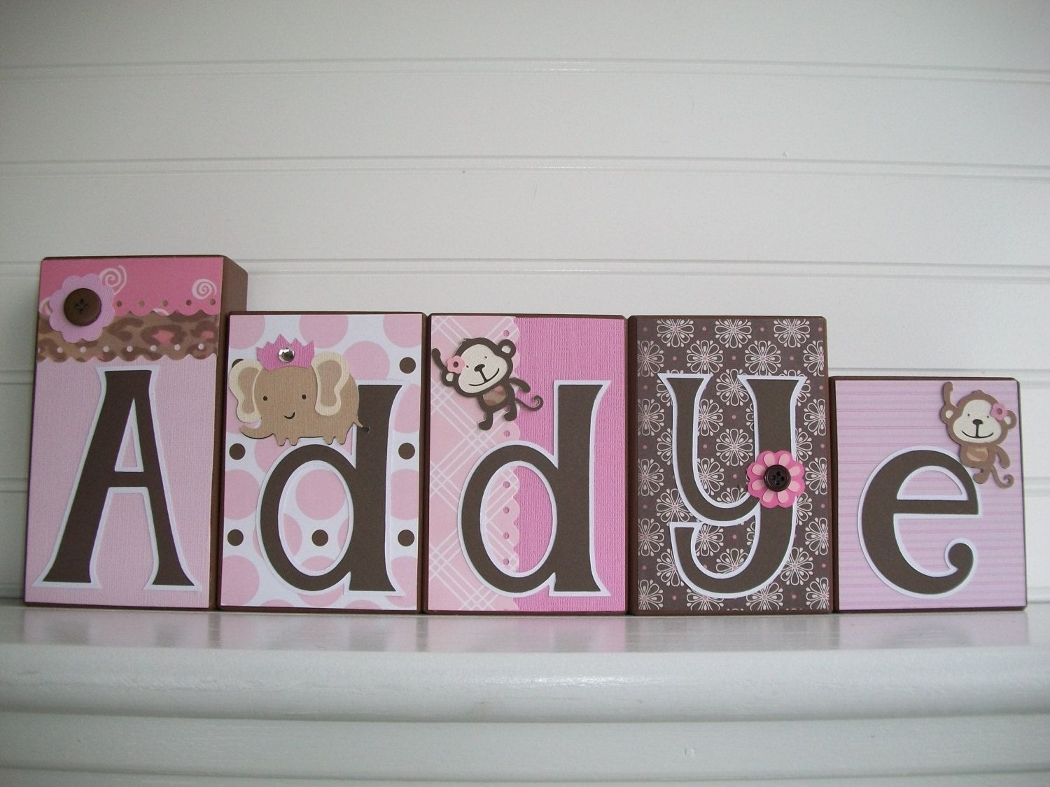 Baby Name Letters Nursery Blocks M2m Tutu By Ressielillian 12 00