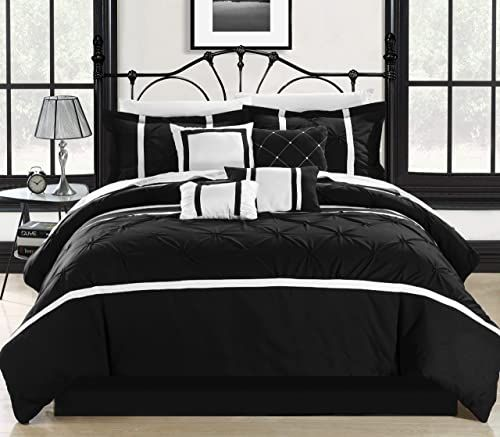 Photo of Buy Chic Home Vermont/White 8 Pc Comforter Set, King, Black online – Annetrendyfashion
