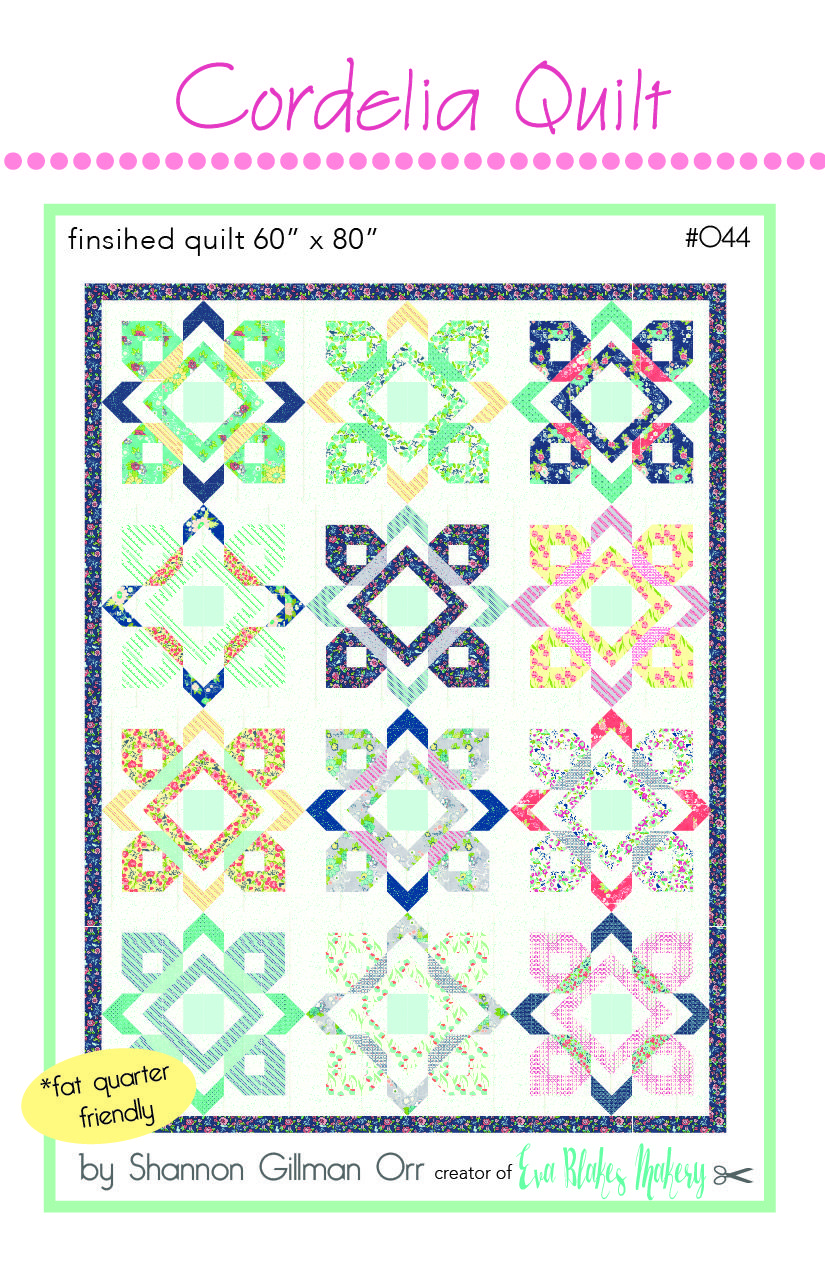 Cordelia Quilt PDF Pattern | Crafting: Quilting | Pinterest | Fat ...