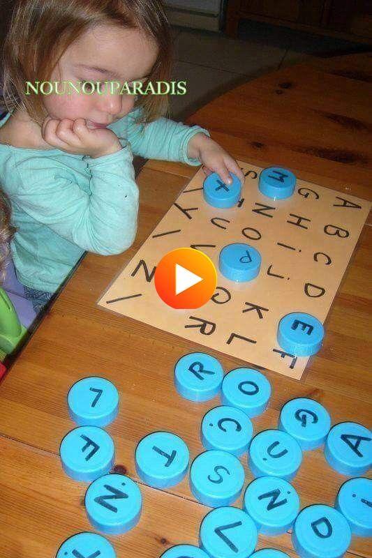 Juego educativo alfabético con tapas de botellas, tapas de PET de reciclaje - #AlphabetLer ...