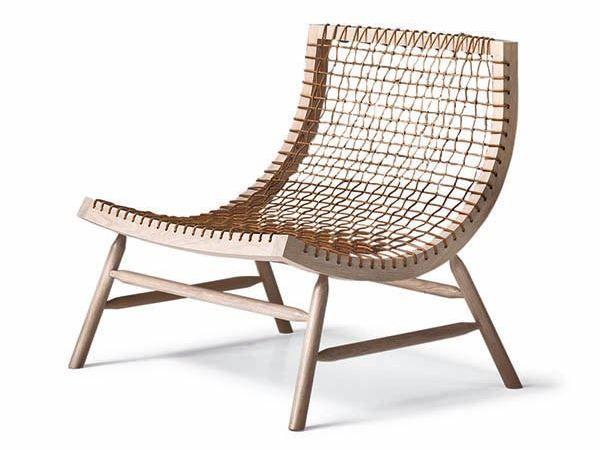 Loungesessel aus massivem Holz SITAR By Saba Italia Design Enzo Berti