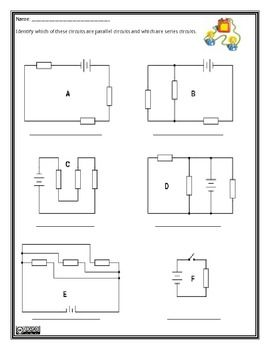 Parallel And Series Circuits Worksheet Science Electricity