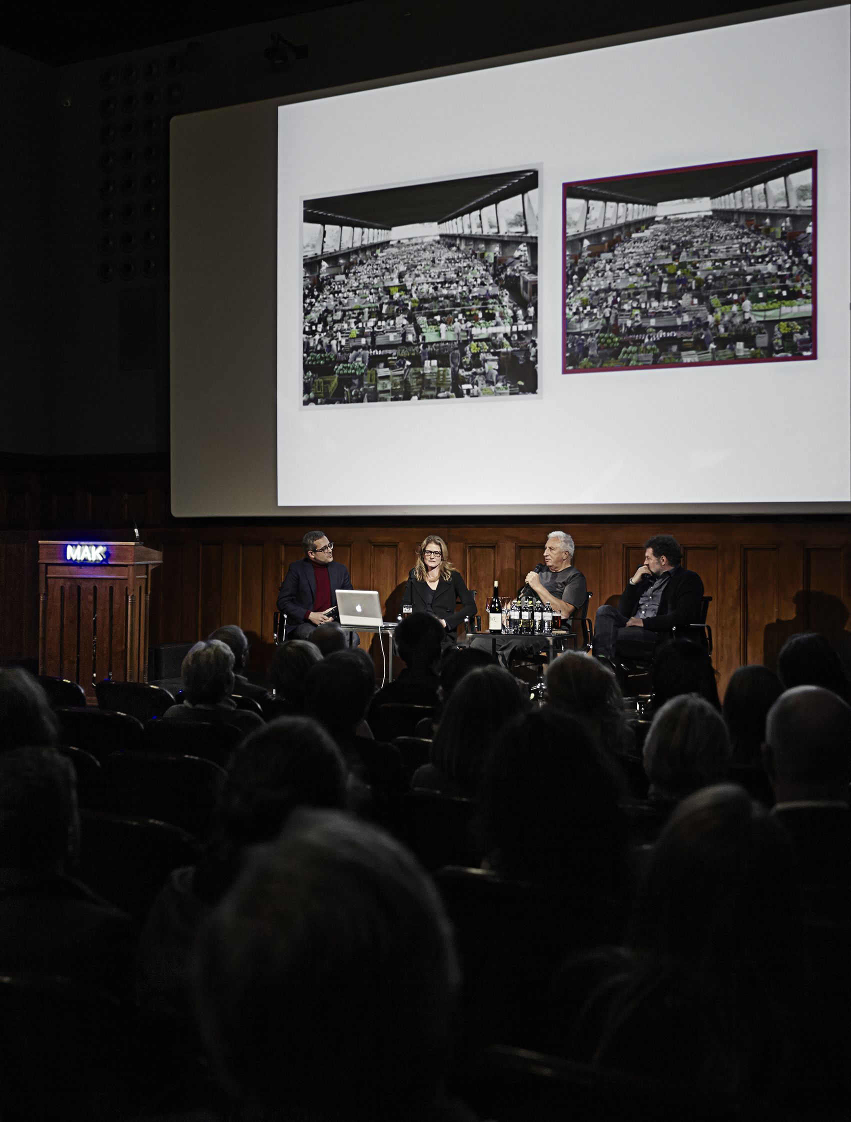 Marc O'Polo Talk: Iconic photographers Mona Kuhn & Massimo Vitali live on stage discussing photography between art & commerce. #mak_museum @monakuhnstudio #marcopolo