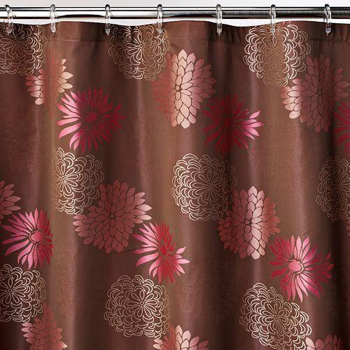 Zenna Home 1961908381 Mariana Fabric Shower Curtain Brown >>> Click ...