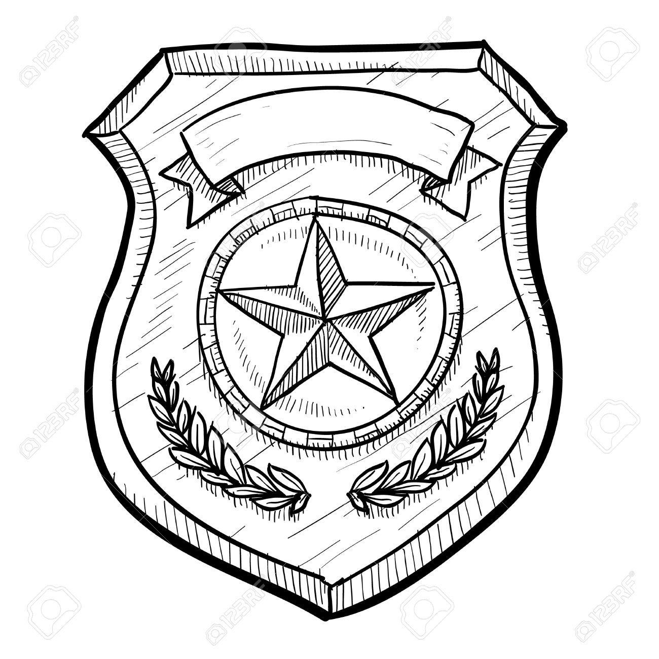 Cool Blank Police Badge Polizei Geburtstag Polizei Illustration