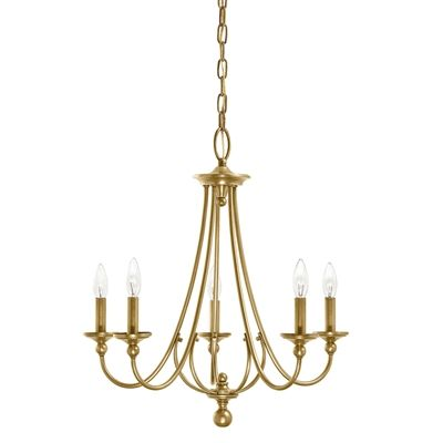 Kichler camella 21 77 in 5 light natural brass williamsburg hardwired candle standard chandelier