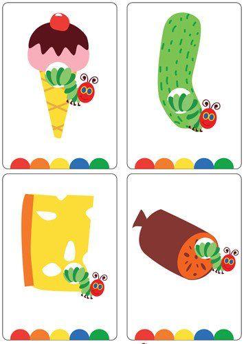 Happy Caterpillar Flash Cards | Oruga glotona | Pinterest | La oruga ...