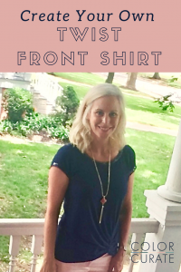 a83e65e14f How to DIY the Knotted   Twist Front Shirt