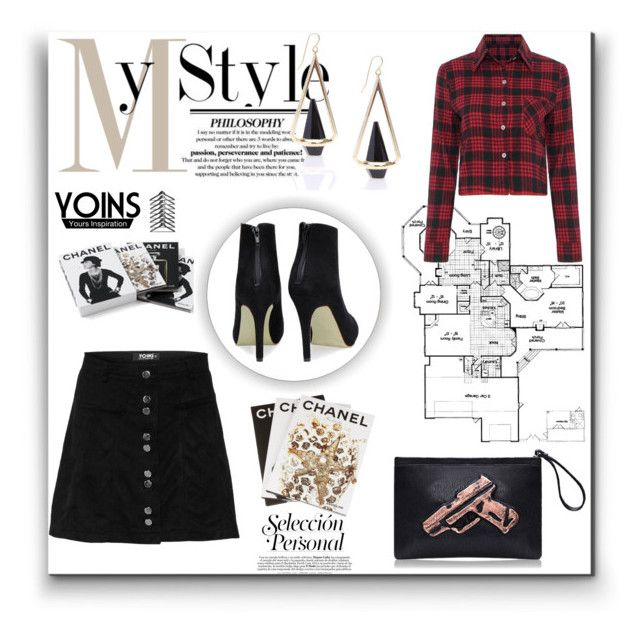 """**Yoins fashion contest** #3"" by gigglycute ❤ liked on Polyvore featuring Assouline Publishing, Chanel and yoins"