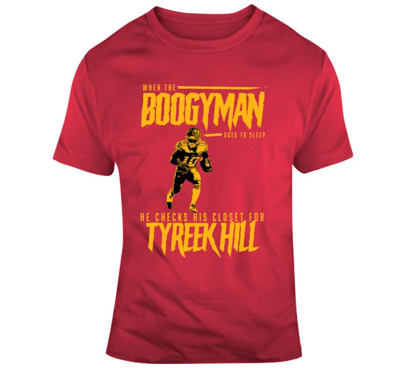 The Boogeyman Checks For Tyreek Hill Kansas City Chiefs Football T Shirt