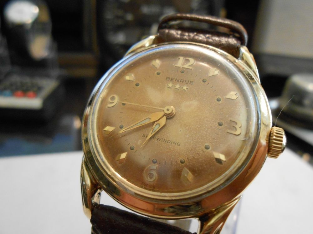 vintage 1950s benrus 3 star automatic 10k gold filled 17 jewels vintage 1950s benrus 3 star automatic 10k gold filled 17 jewels men s watch