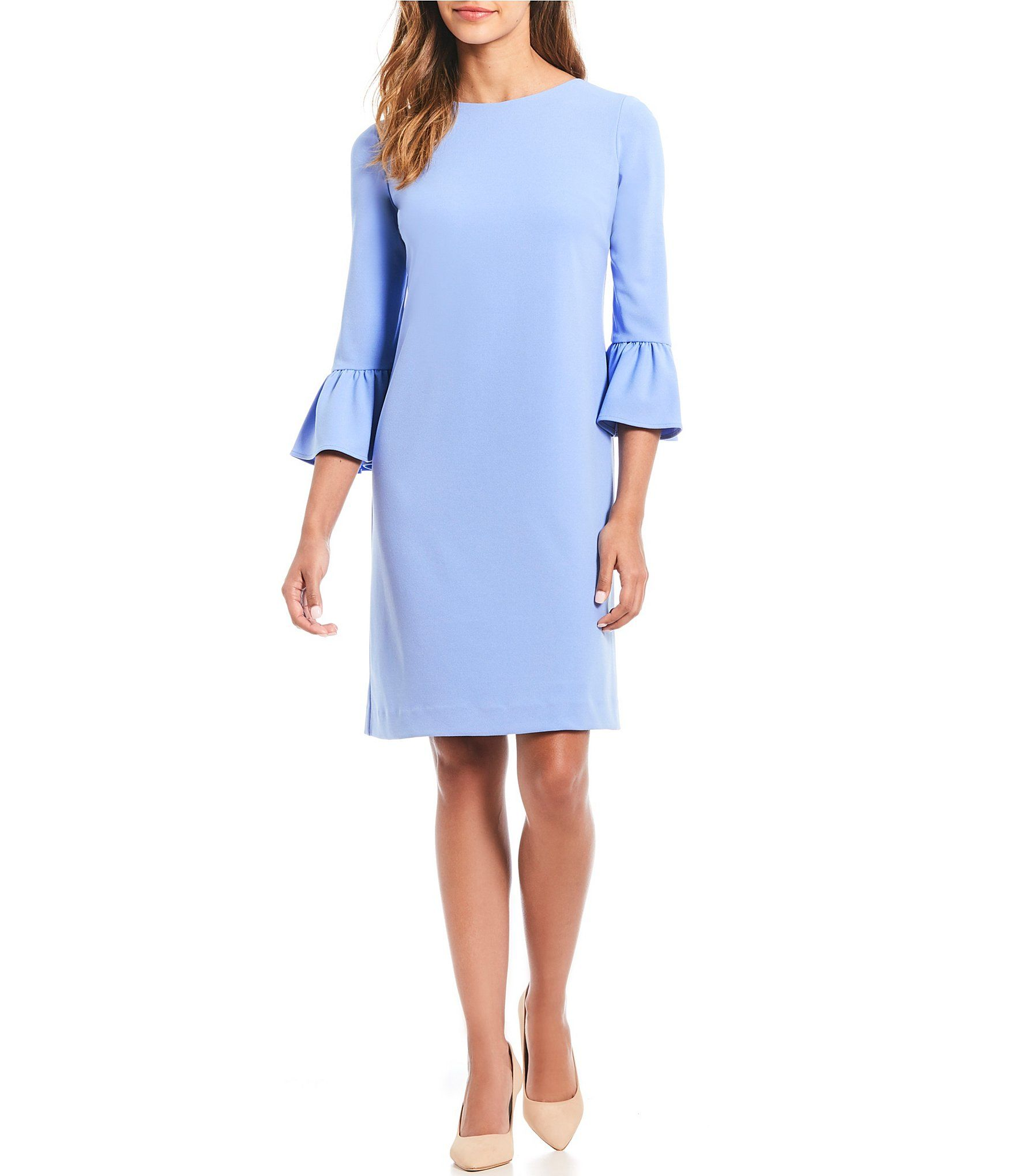 1edb30f314d Preston   York Robyn Bell Sleeve Shift Dress  Dillards