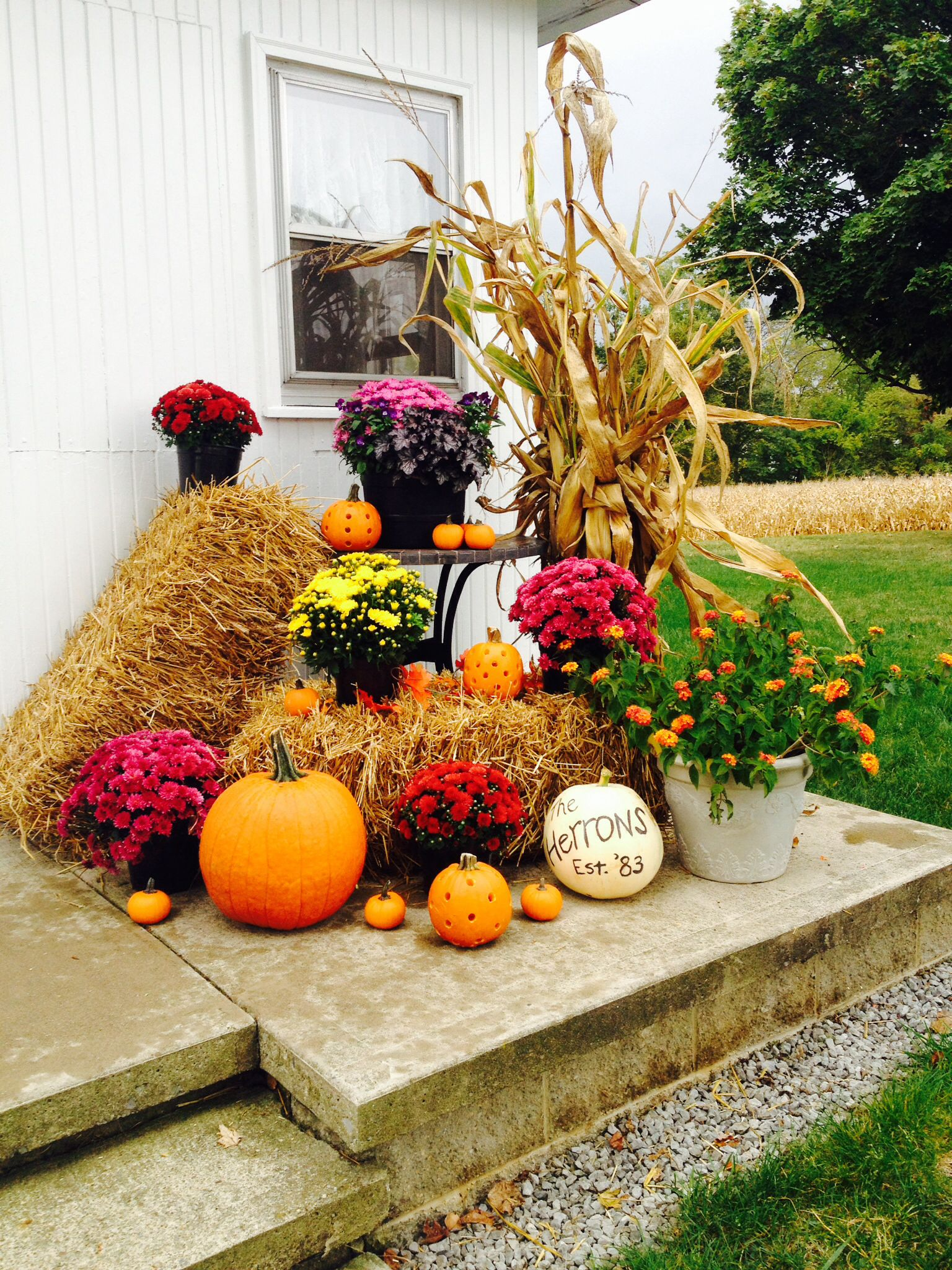fall outdoor decorations - Fall Outside Decorations