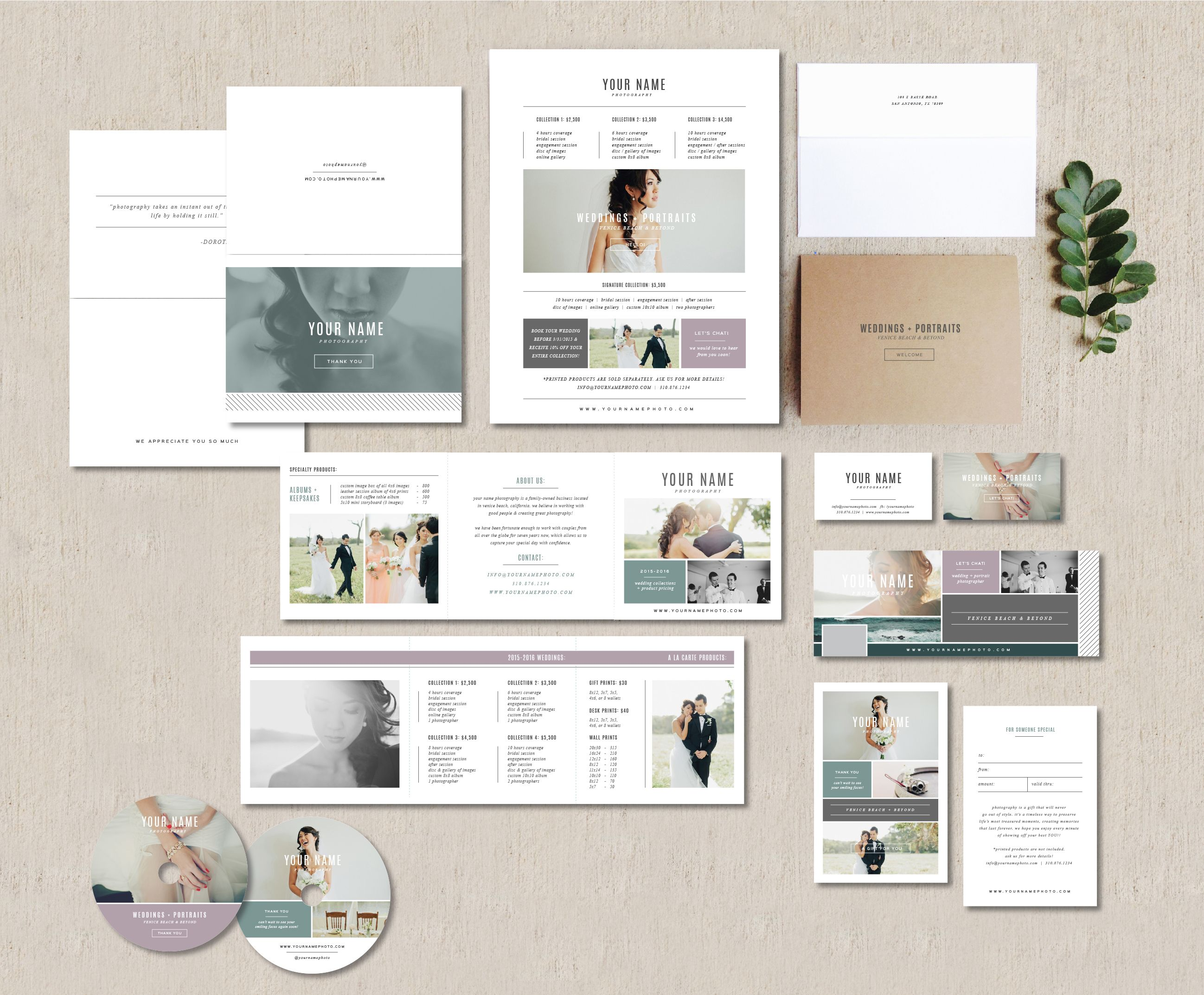 photography logos, photo marketing, save the date photo cards, photoshop designs, and psd templates