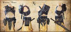 Dark Elf Assassin set by ~I-TAVARON-I on deviantART
