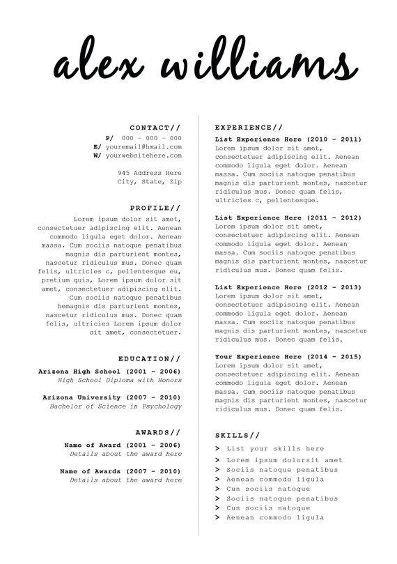 DESCARGAR diseño de CV carta de presentación por BrandConceptCo - psychology resume
