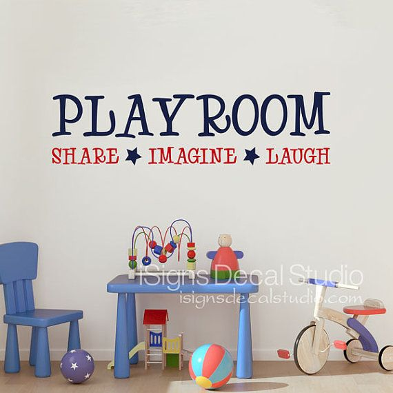 playroom wall decal playroom share imagine laugh wall. Black Bedroom Furniture Sets. Home Design Ideas