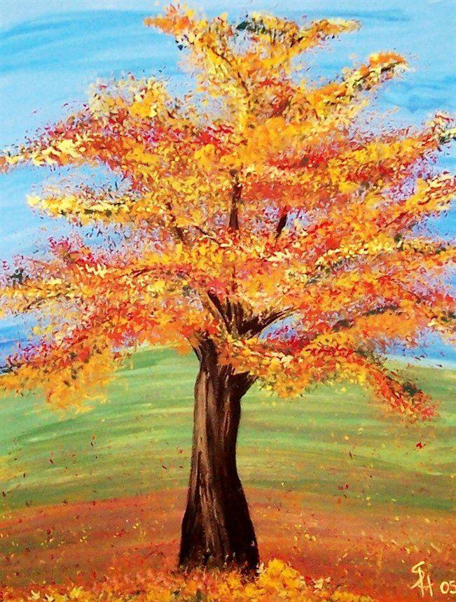 fall tree Google Search Fall Autumn trees Art Painting