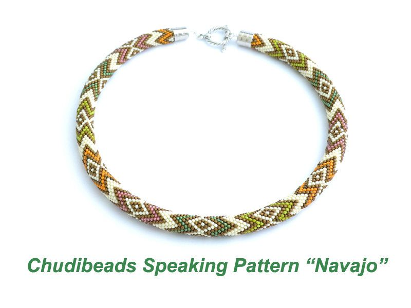 Navajo  Chudibeads speaking pattern for necklace by Chudibeads, $15.00