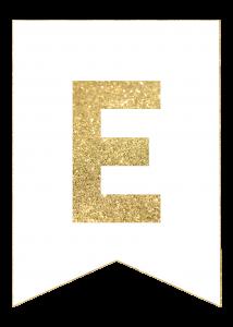 Gold Free Printable Banner Letters | Banderas de feliz ...