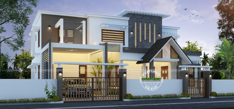 Mesmerizing And European Mix Home | Kerala house design ...
