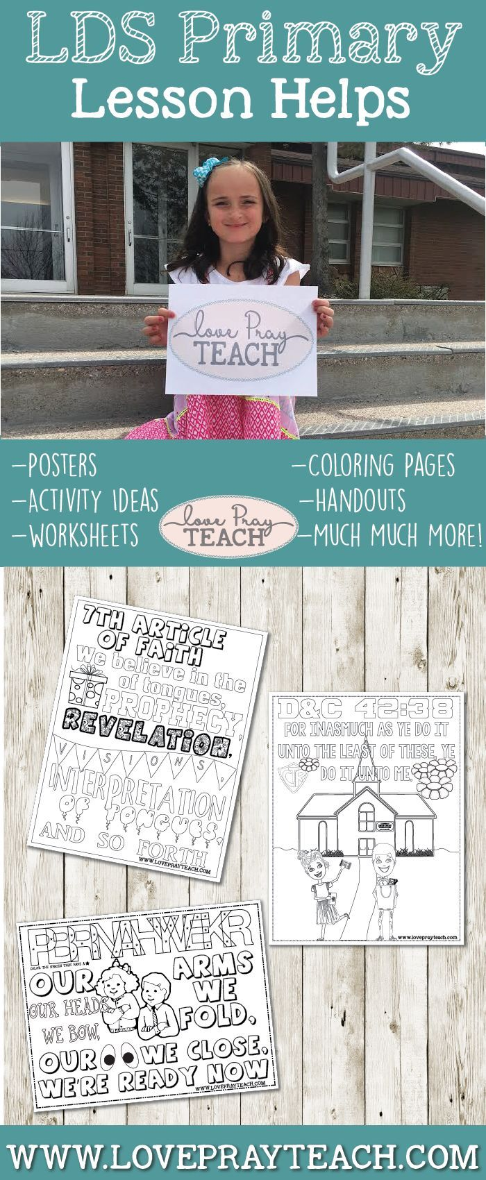COLORING PAGES! Our Primary 5 Valiant lessons always include a ...