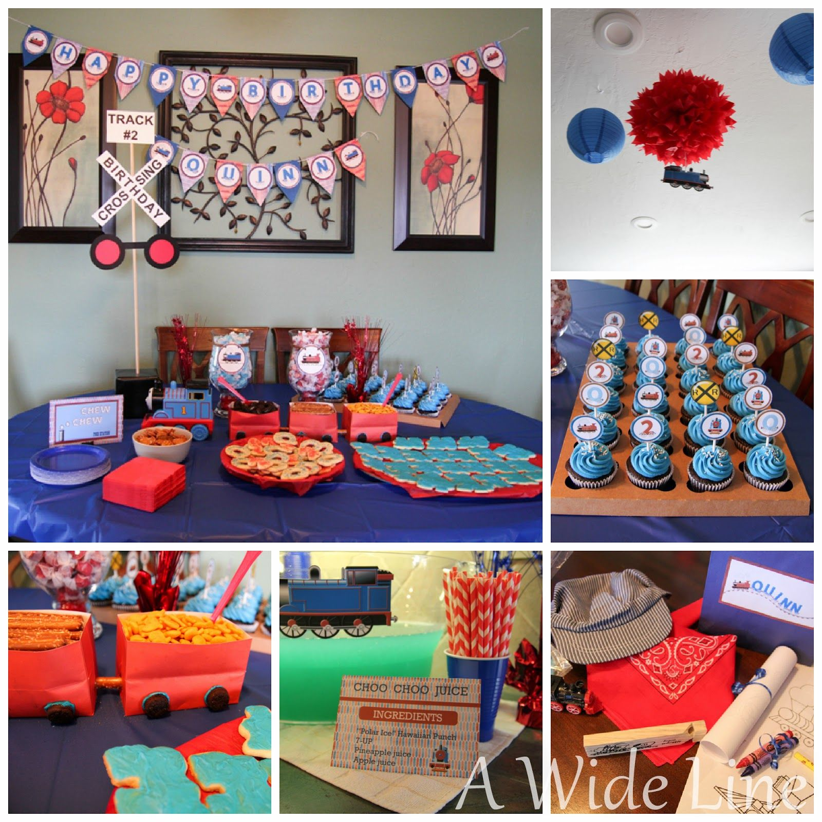 Diy train themed 2nd birthday party i saved a ton by for 2nd birthday decoration ideas