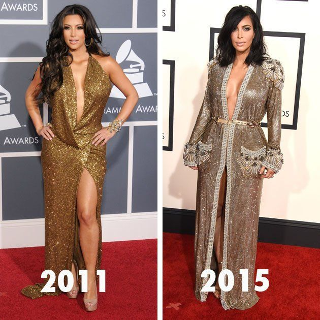 Kim Kardashian S Style Evolution Before And After Kanye West Kardashian Style Kim Kardashian Style Jenner Outfits