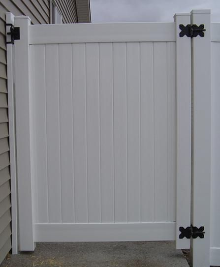 Veranda 3 5 Ft W X 6 Ft H White Vinyl Windham Fence Gate 181974 At The Home Depot Mobile Fence Gate Vinyl Gates Fence Decor
