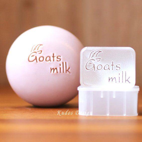 ZA101B Goat Milk Acrylic Soap Stamp Kudos Design Kudosoap Taiwan
