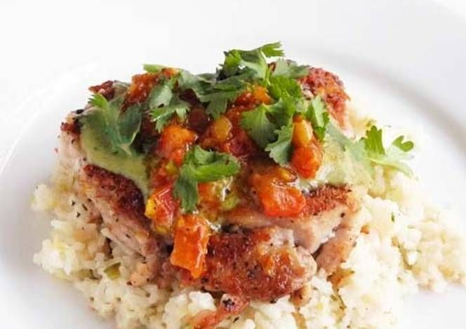 Mexican-Style SautÃed Chicken Thighs Recipe -  I think Mexican-Style SautÃed Chicken Thighs is a good dish to try in your home.