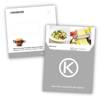 Kenwood Direct Mailing Experts In Food Preparation And A Household Name In Food Mixers Processors Blenders And Kitchen Appliances Kenwood Commissioned Us T