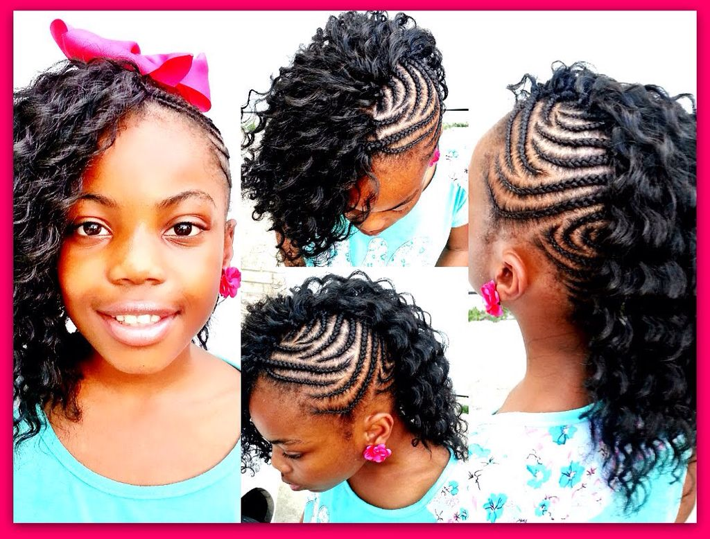 Its a braided bun with hair crochet it the middle creative
