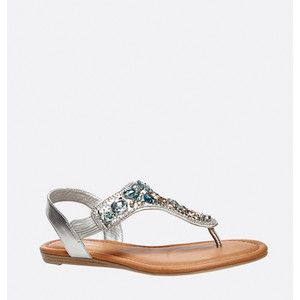 Avenue Amelia Jeweled Thong Sandal