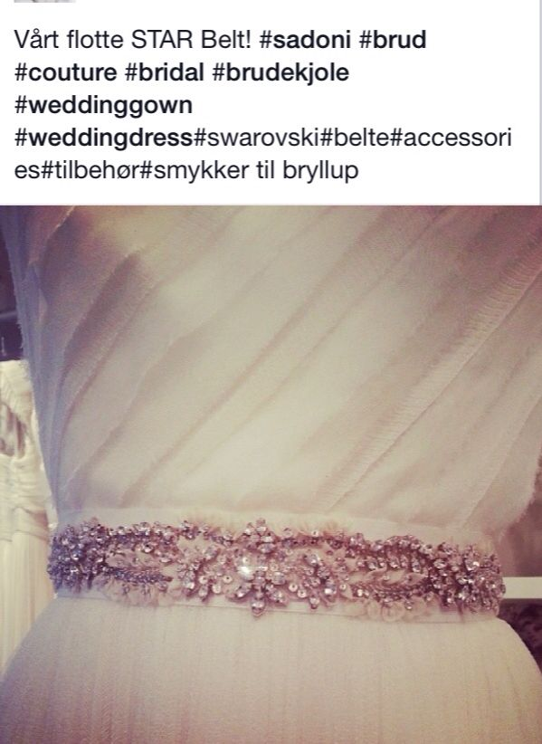Lovely belt for a little sparkle on the wedding dress from Sadoni Bridal