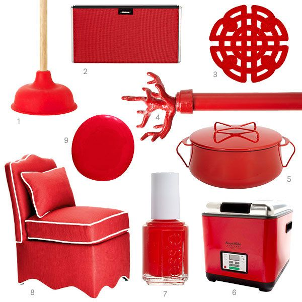Color Of The Week Tomato Red Red Decor Accents Red Home Accessories Red Decor