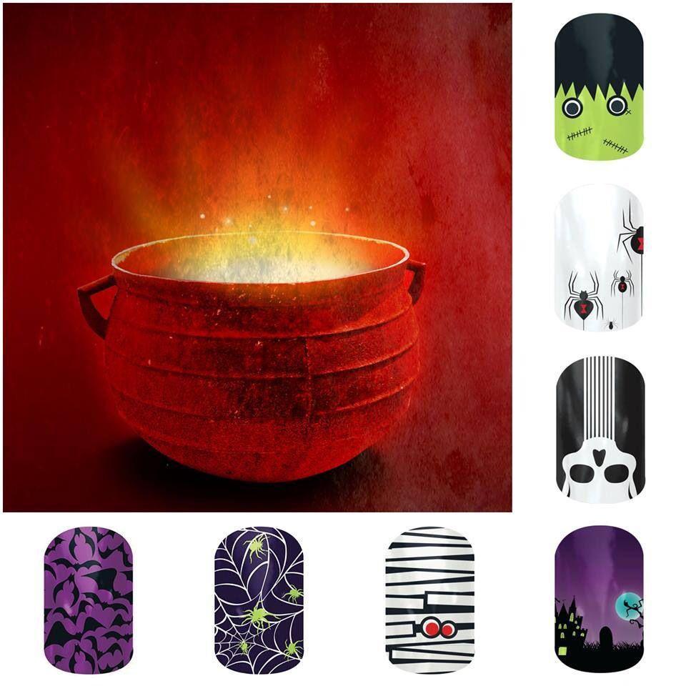 Halloween nails. www.facebook.com/jenbondjamberry (With ...