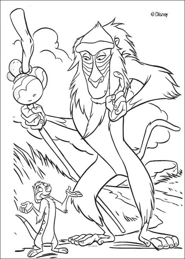 The Lion King Coloring Pages Timon And Rafiki Horse Coloring