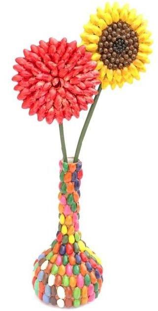 Flowers with Vase Dimension : 13cm x 46cm http://kalajagat.com/crafts Rs/- 2,000