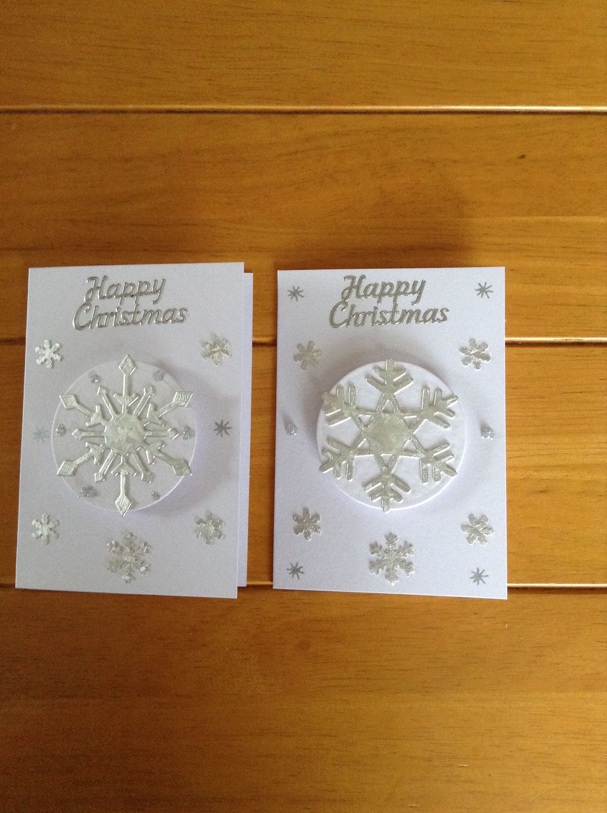 A7 size Christmas cards