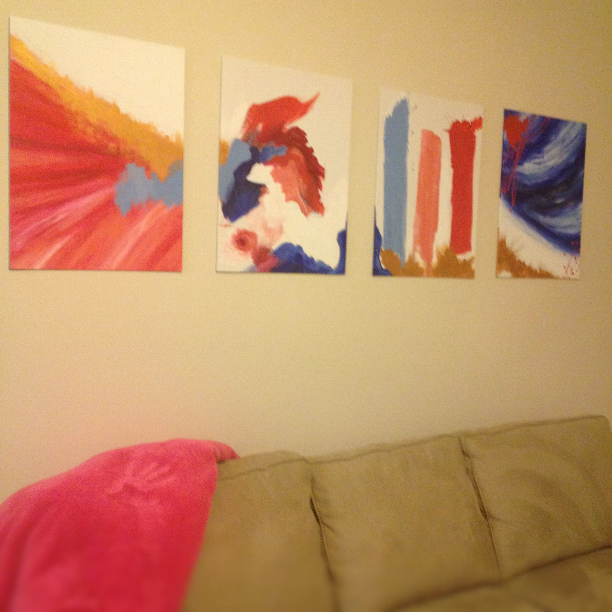 Colorful Easy Diy Wall Art Painting Ideas - The Wall Art Decorations ...